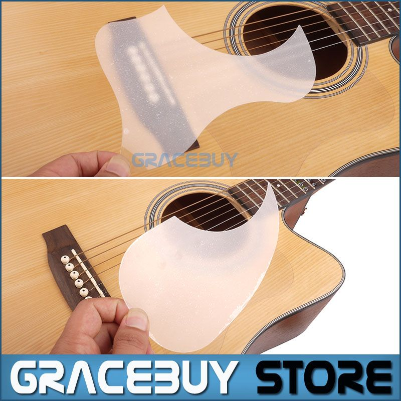 Transparent Acoustic Guitar Pickguard Droplets Or Bird Self Adhesive 41 Pick Guard Pvc Protects Your Classical Acoustic Guitar Guitar Acoustic Guitar Lessons