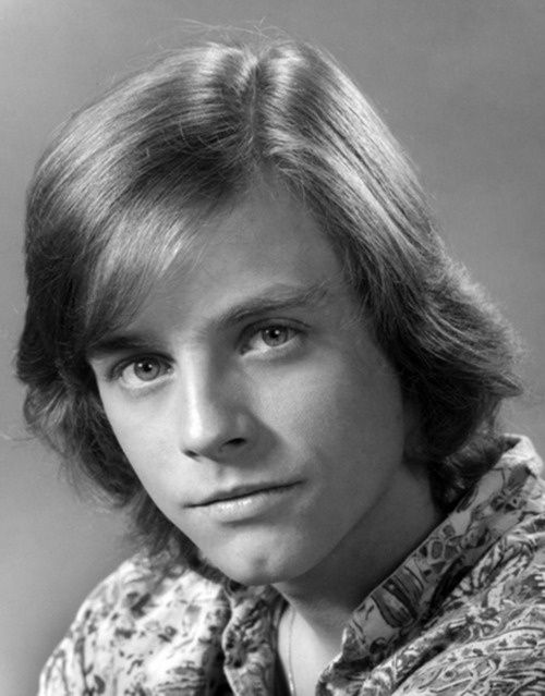 Mark Hamil around the time of the first Star Wars movie.