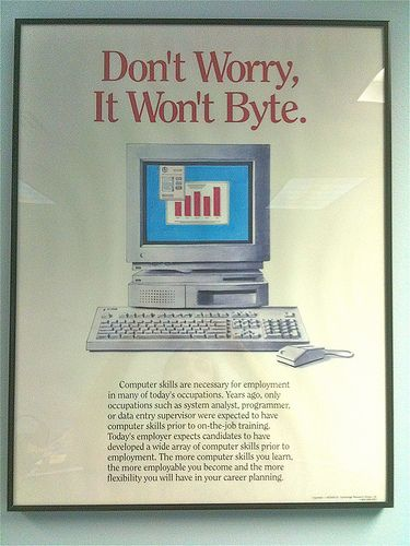 Old Computer Poster | Old computers, Computer technology ...