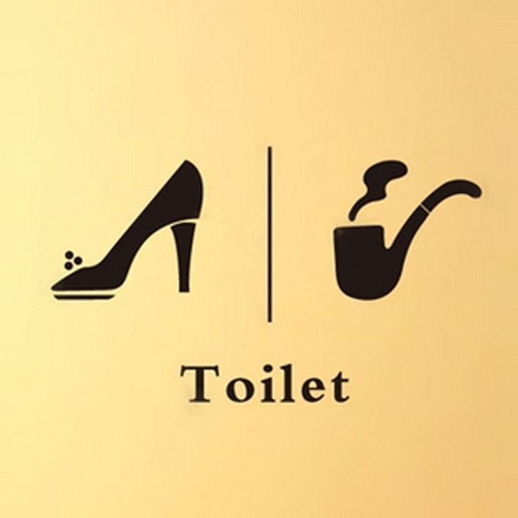 Bathroom Sign Graphics brass bathroom door signs | stribal | design interior home