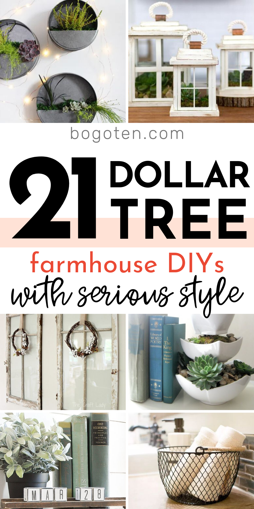 21 Dollar Tree Farmhouse DIYs with Serious Style