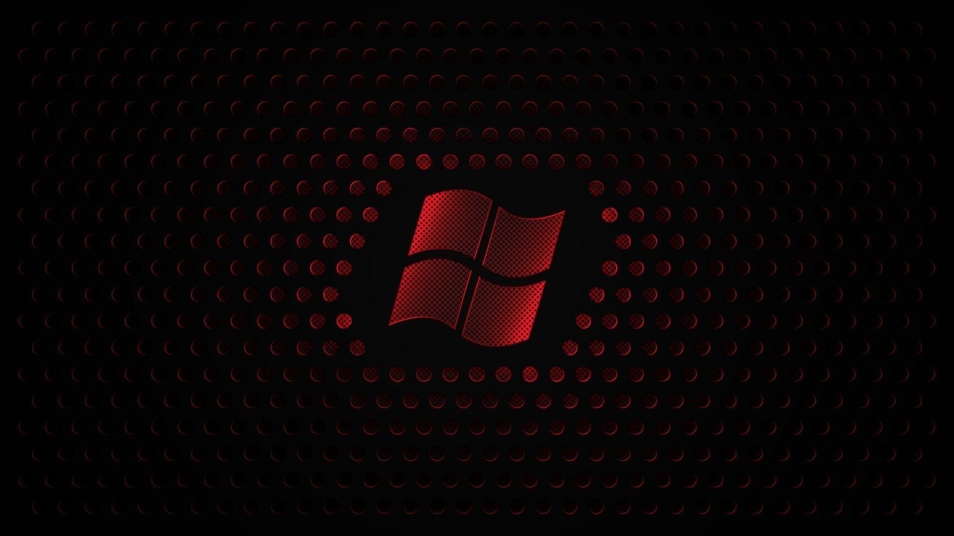 Red Windows 7 Microsoft Logo 8 Wallpaper In 2020 Windows Wallpaper Black And Blue Background Dark Wallpaper