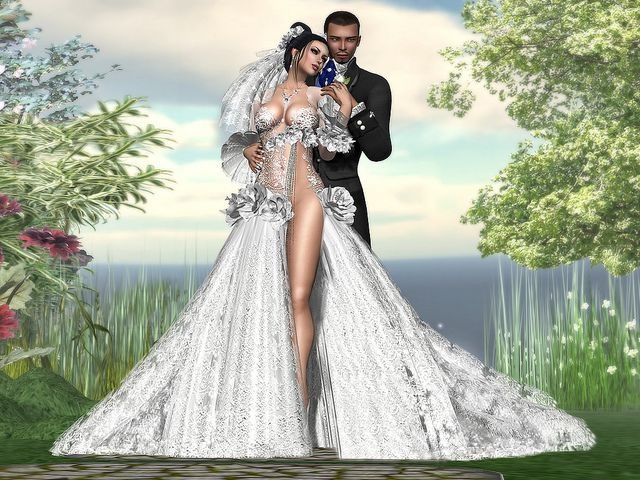 Best wedding portrait for those who live in a video game from