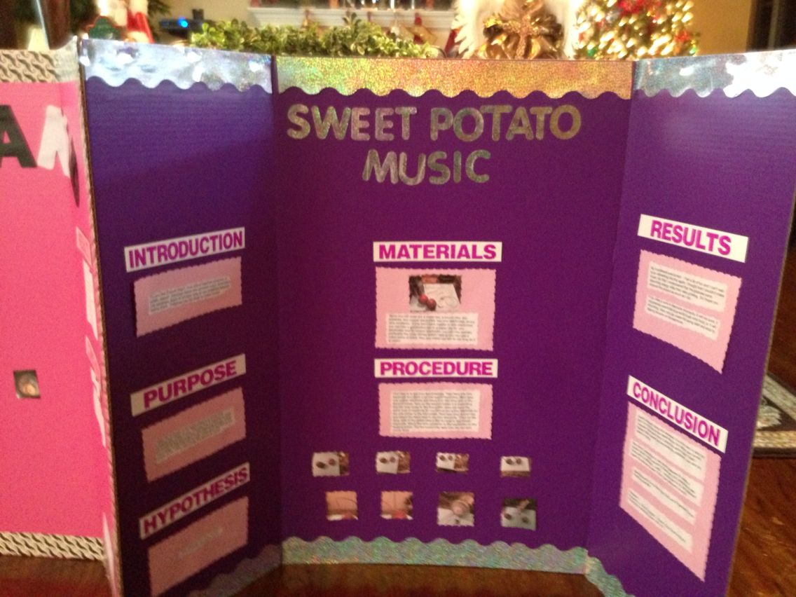Science Fair Project of potatoes making music | Science