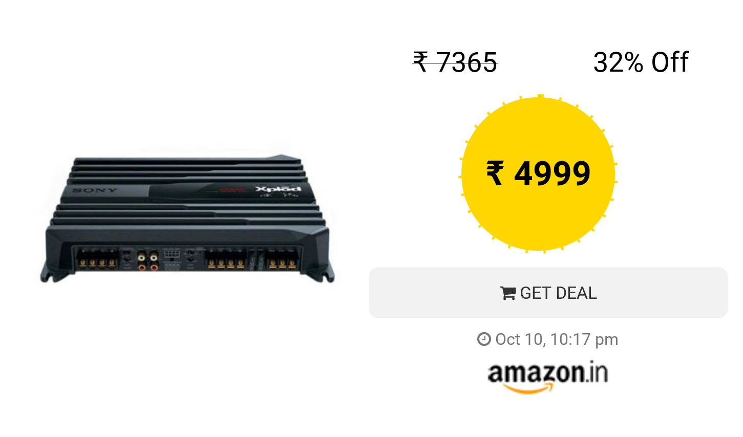 Sony XM-N1004 in-Car Amplifier (Black) | Deals | Car amplifier, Sony