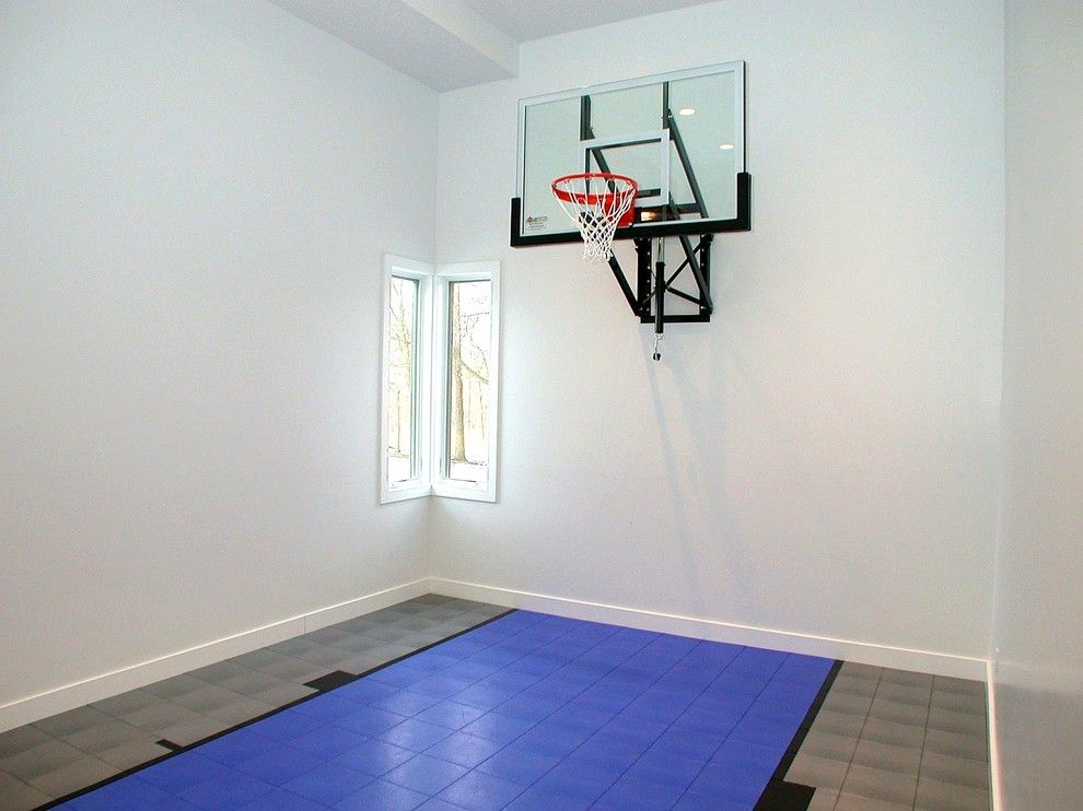 Basketball hoop for small spaces google search for Small basketball court