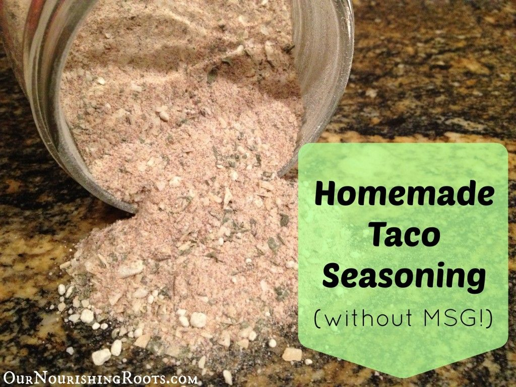 Homemade Taco Seasoning (without MSG)