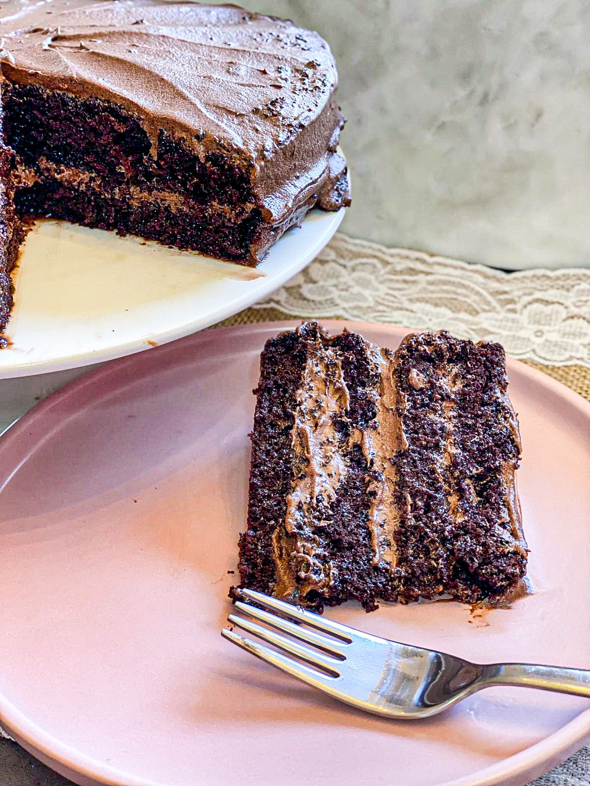 American Buttercream Frosting Chocolate Food Voyageur Recipe In 2020 Moist Chocolate Cake Best Moist Chocolate Cake Chocolate Cake Recipe Easy