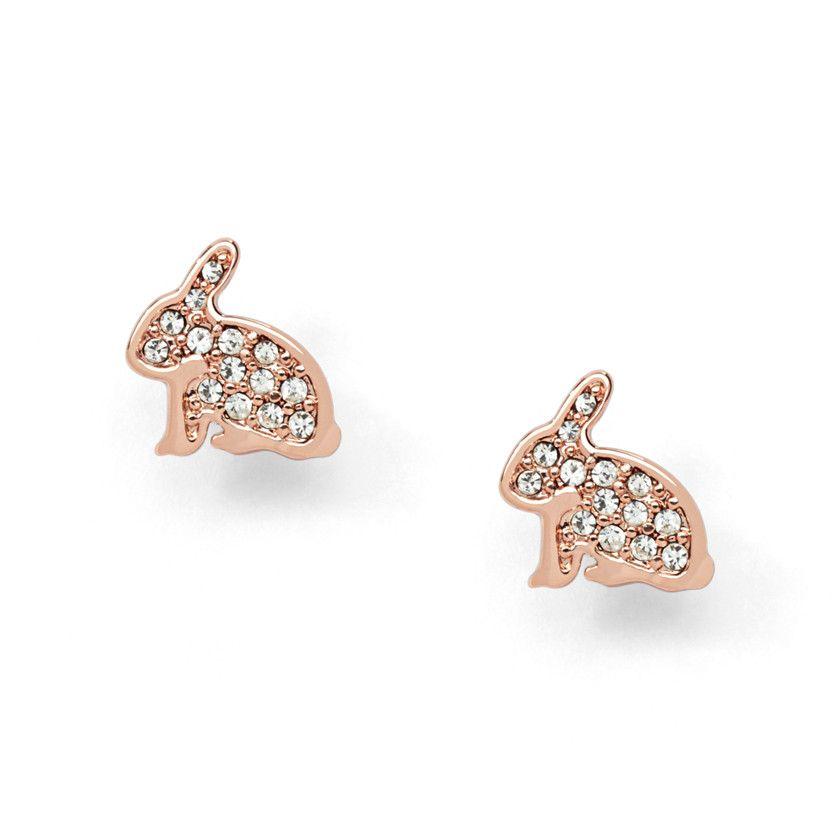 Gold Bunny Stud Earrings | Fall | Pinterest | Bunny ...