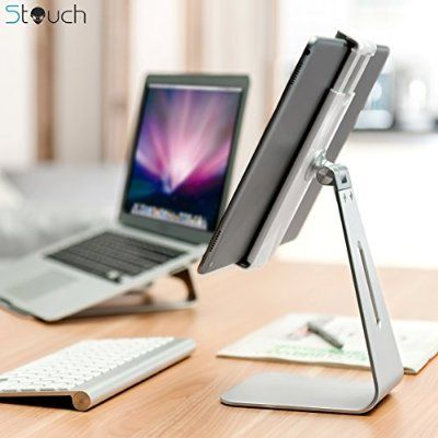 Ipad Pro Tablet Holder Stand Stouch 360 Rotatable Aluminum Alloy Desktop Holder Tablet Stand For Samsung Galaxy T With Images Ipad Pro Adjustable Tablet Stand Ipad Stand