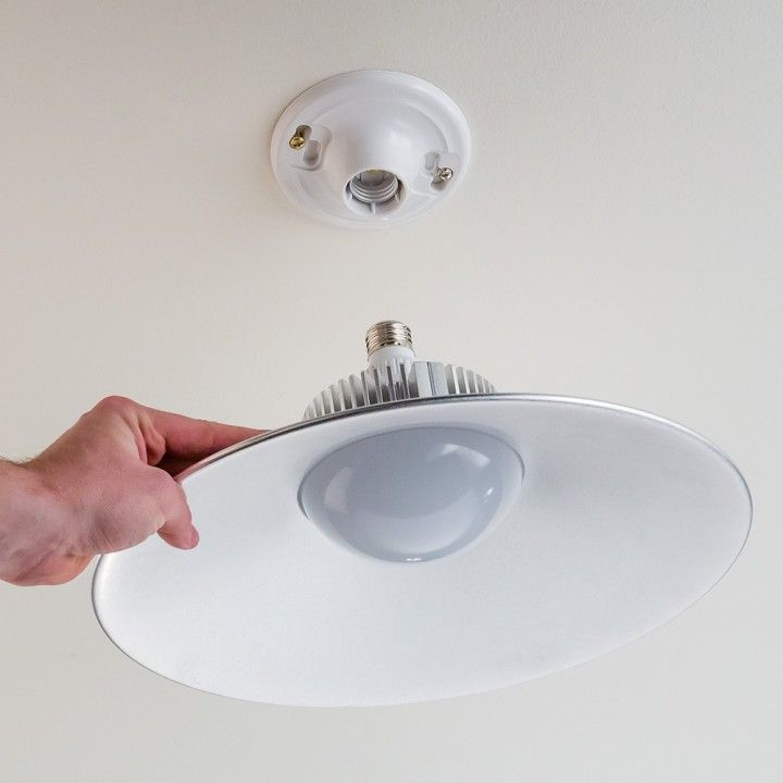 Incredibly bright efficient 4400 lumen lamp replaces any standard bare light bulb