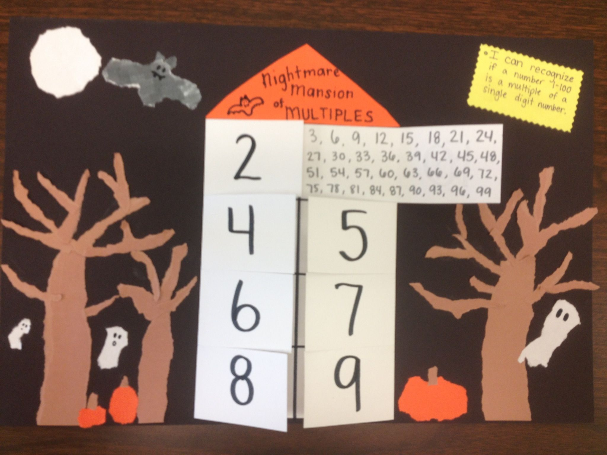 Multiples Haunted House Math Halloween And Torn Paper