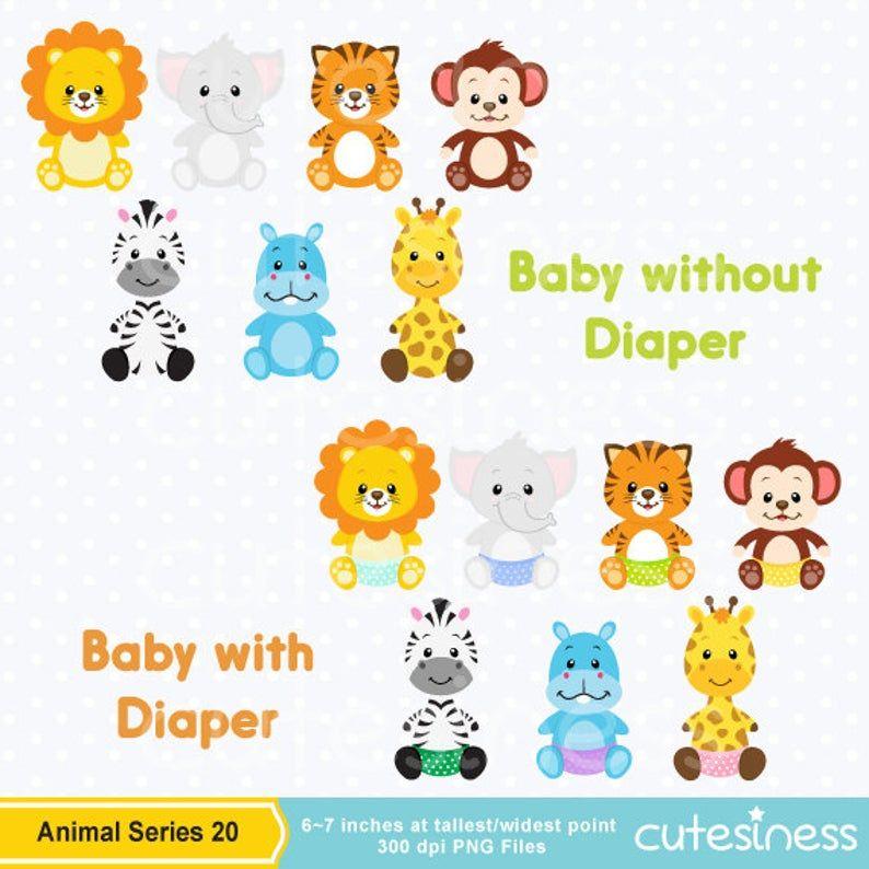 Baby Animal Clipart Baby Animal Clip Art Baby Jungle Animals Clipart Baby Shower Clipart Baby Jungle Animals Animal Clipart Baby Clip Art