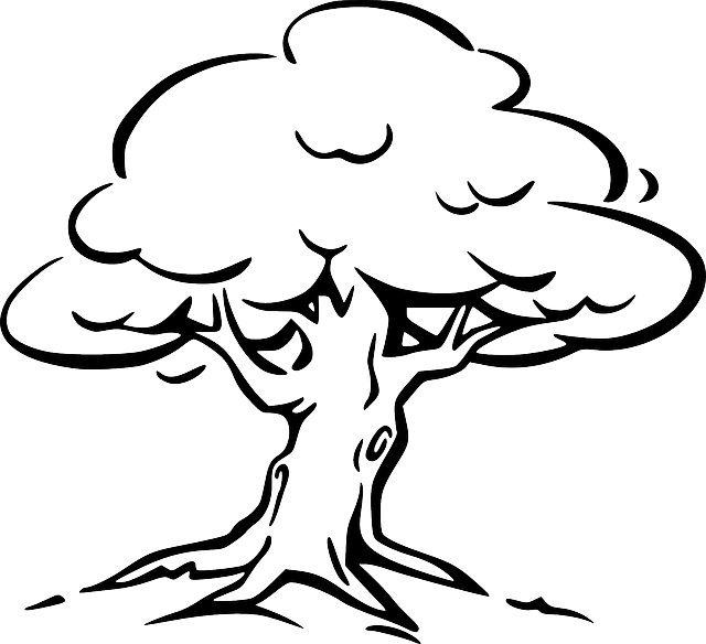 tree line coloring pages - photo#21