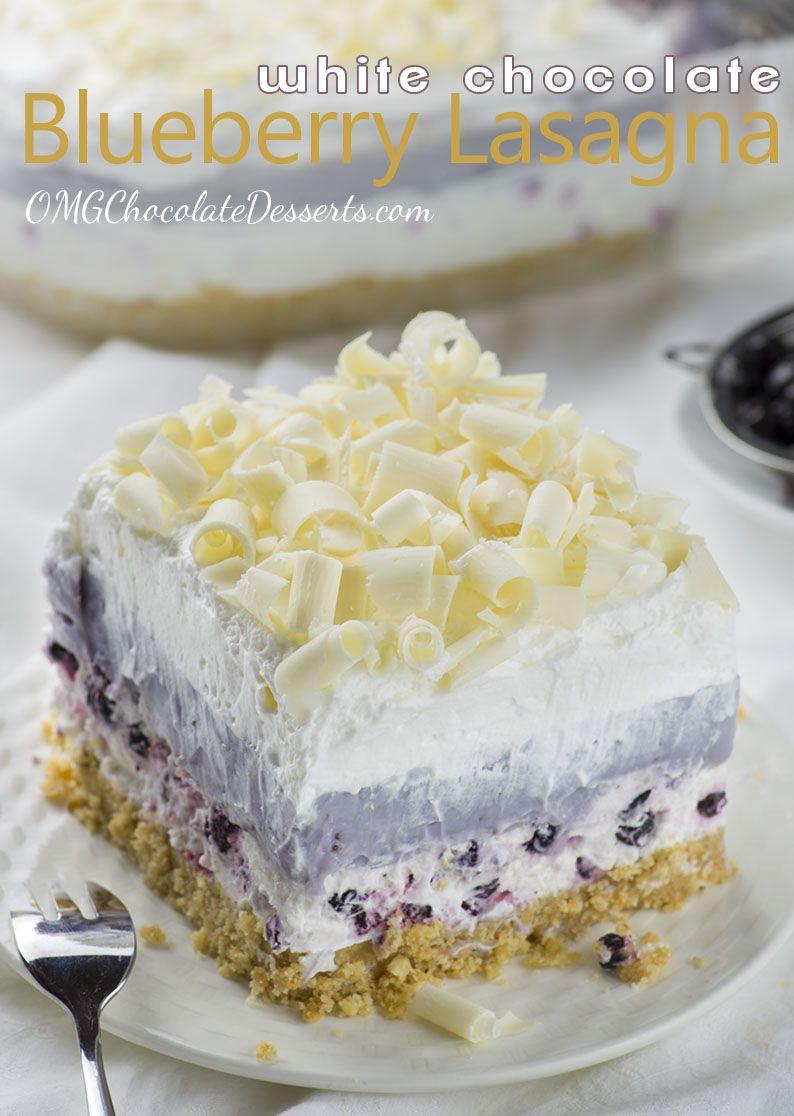 White apron food - White Chocolate Blueberry Lasagna Red White Apron