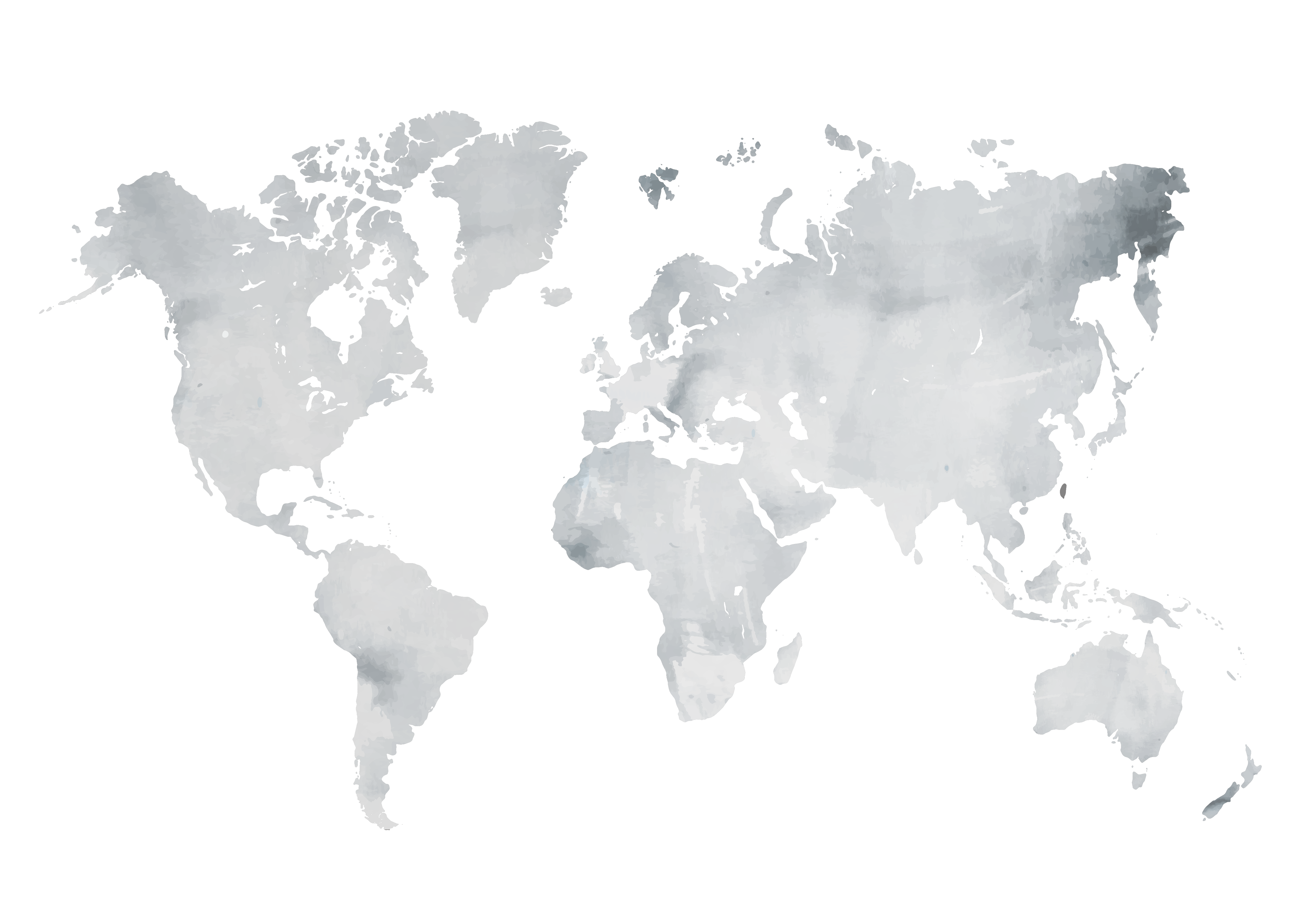 Grey Watercolor World Map | Interiors | Pinterest | Water color
