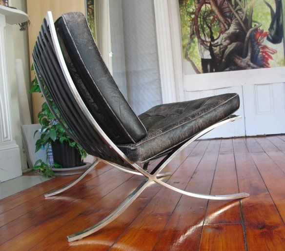 Awesome REDUCED$  2 Very Early Mies Knoll Barcelona Chairs