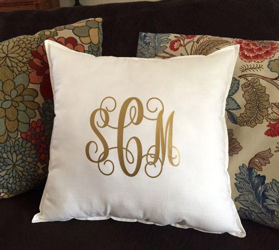 Monogram Pillow Monogrammed Throw Pillow Square Throw Pillow