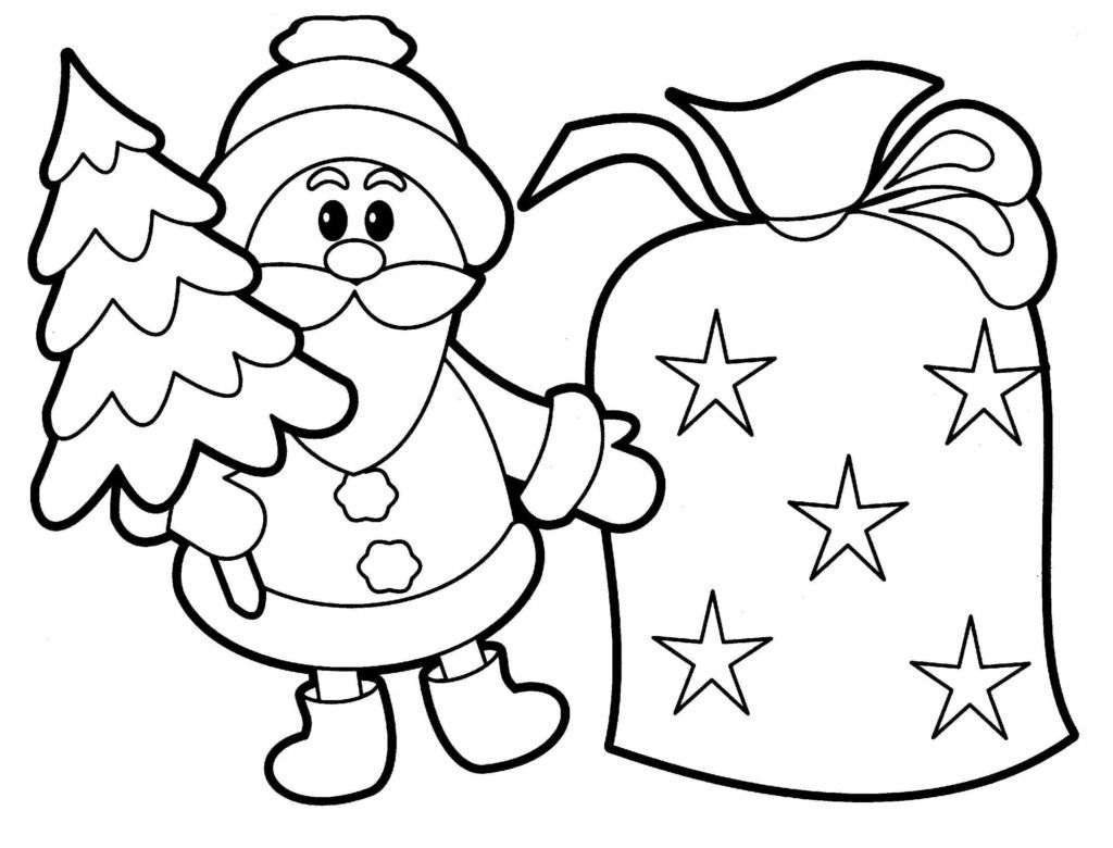 Xmas Coloring Pages Throughout