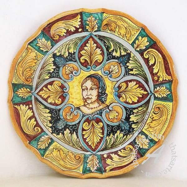 Sicilian ceramics - Decorative wall plate by Ghenos | The Old ...