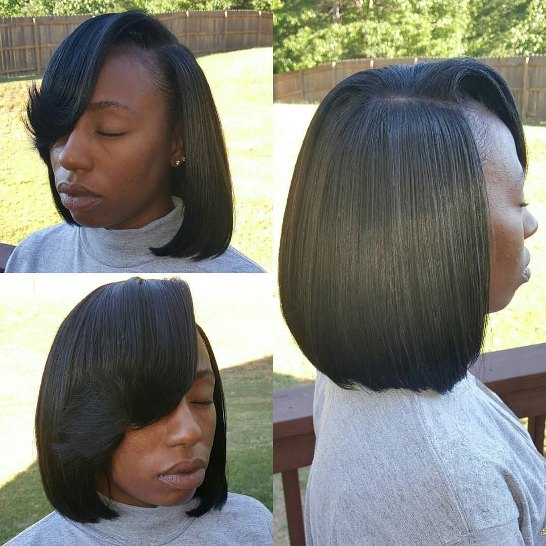 Bob Sew In With Side Part