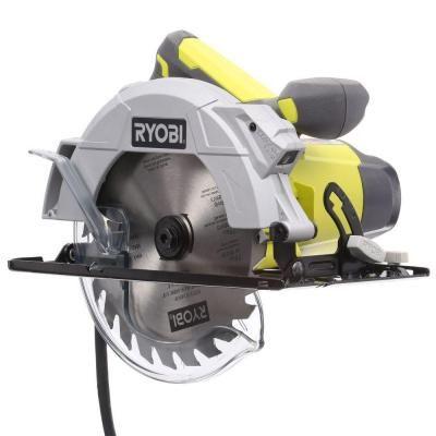 Ryobi 14 amp 7 14 in circular saw with laser greentooth Choice Image