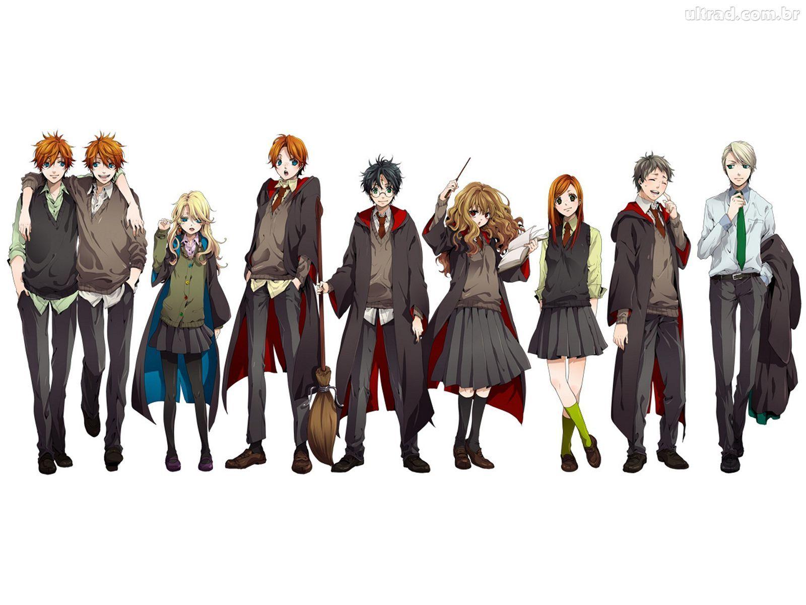 Papel de Parede Harry Potter Estilo Anime Harry Potter