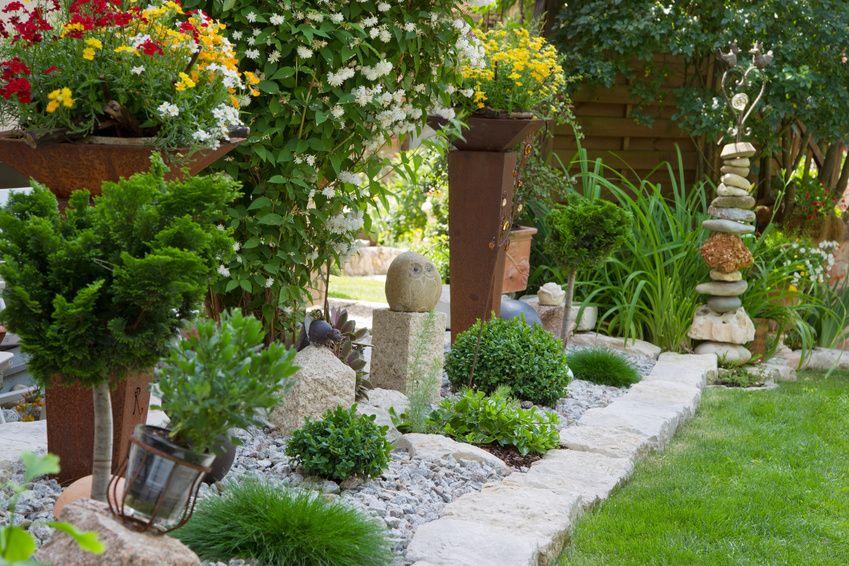Steingartenideen - modernes, pflegeleichtes Design - ideen gestaltung steingarten hang