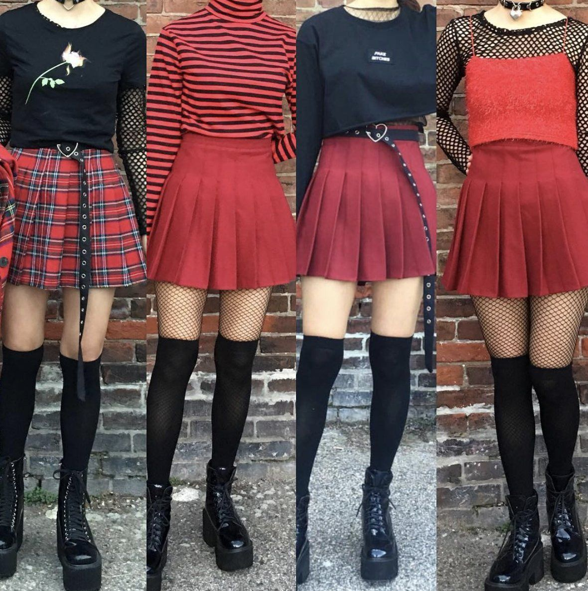 Kwaii Tumblr Aesthetic Clothing Store Kokopiecoco Aesthetic Clothing Stores Aesthetic Clothes Red Skirt Outfits