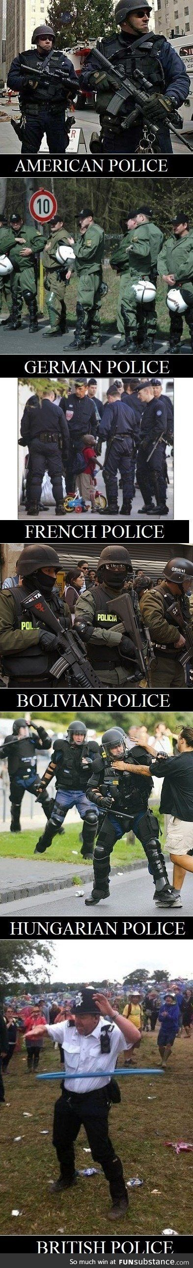 Police in different countries - FunSubstance