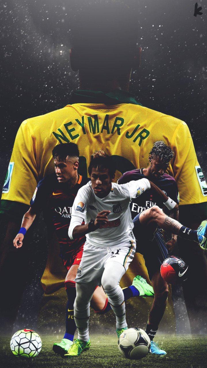 プロサッカー選手ネイマール 各クラブのユニフォーム姿の壁紙