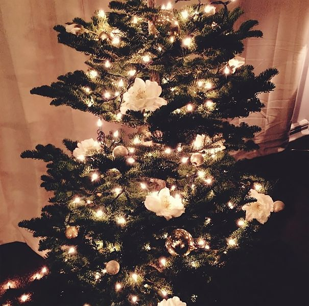 People Are Decorating Their Christmas Trees With Flowers And The - christmas decorating ideas