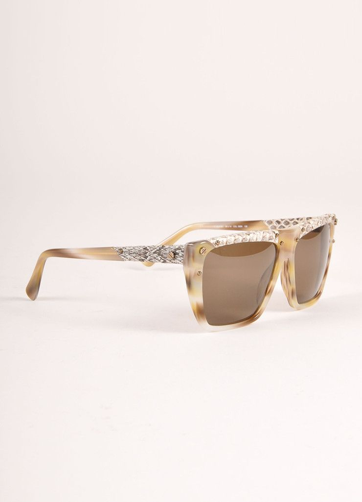 699c85c9af7a8 New With Tags Cream and Brown Snakeskin Plastic