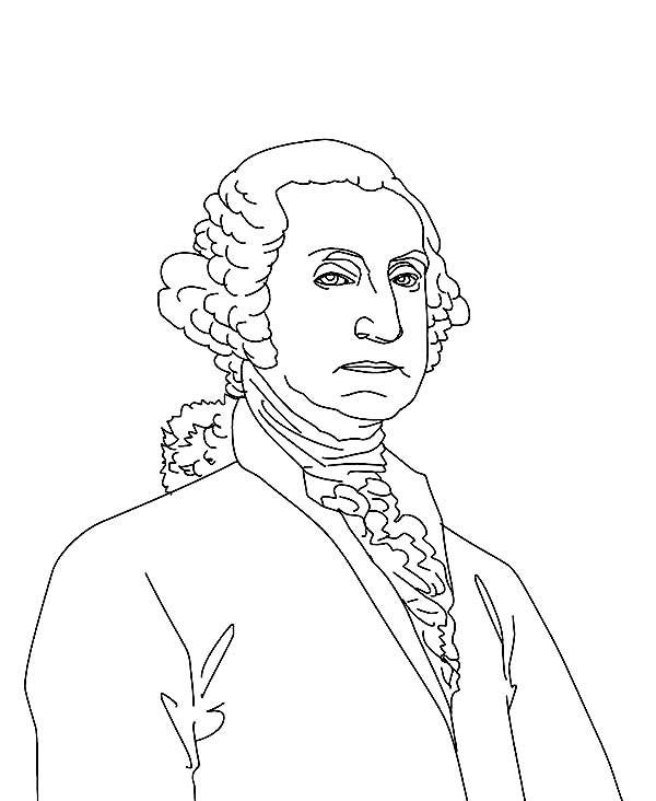Sketch Drawing Of George Washington Coloring Page Kids Play Color Drawing Sketches Coloring Pages Drawings