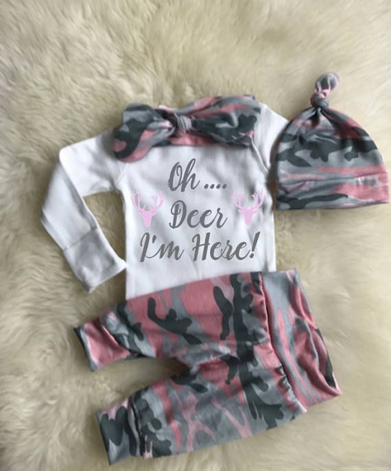 609f76b4fc6ef Newborn Coming Home Outfit · Newborn Girl Outfits · Boho Baby Clothes · Baby  Kids Clothes · Pink Camo Baby, Camo Baby Stuff, Camo Baby Girls, ...