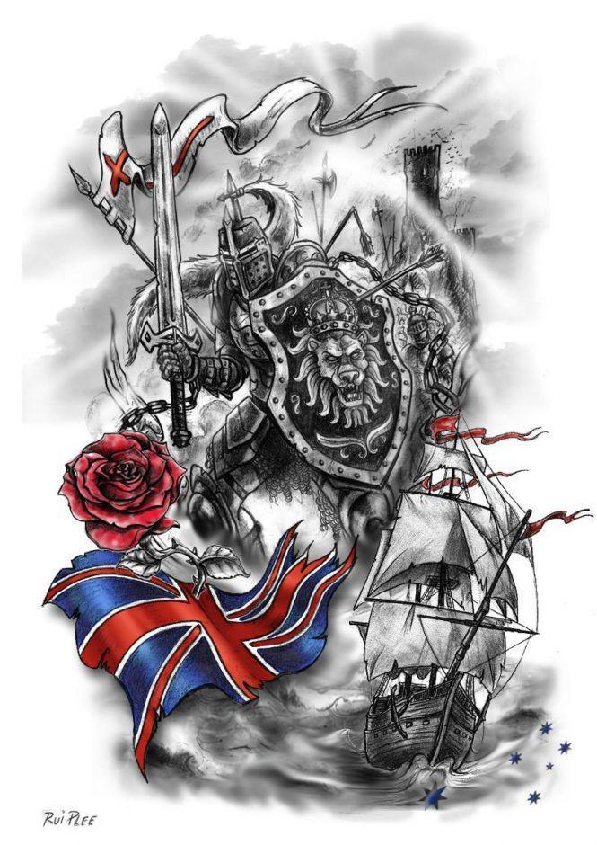 Templar Knight Sleeve   now   Knight tattoo, Tattoos ...