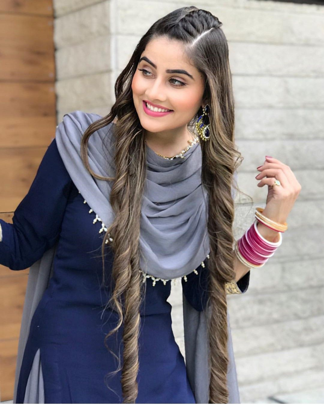 Hair Designs Hairstyle With Suit Punjabi Models Stylish Girl Images