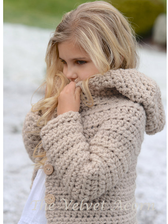 CROCHET PATTERN-The Veilynn Sweater (2, 3/4, 5/7, 8/10, 11/13, 14/16 ...