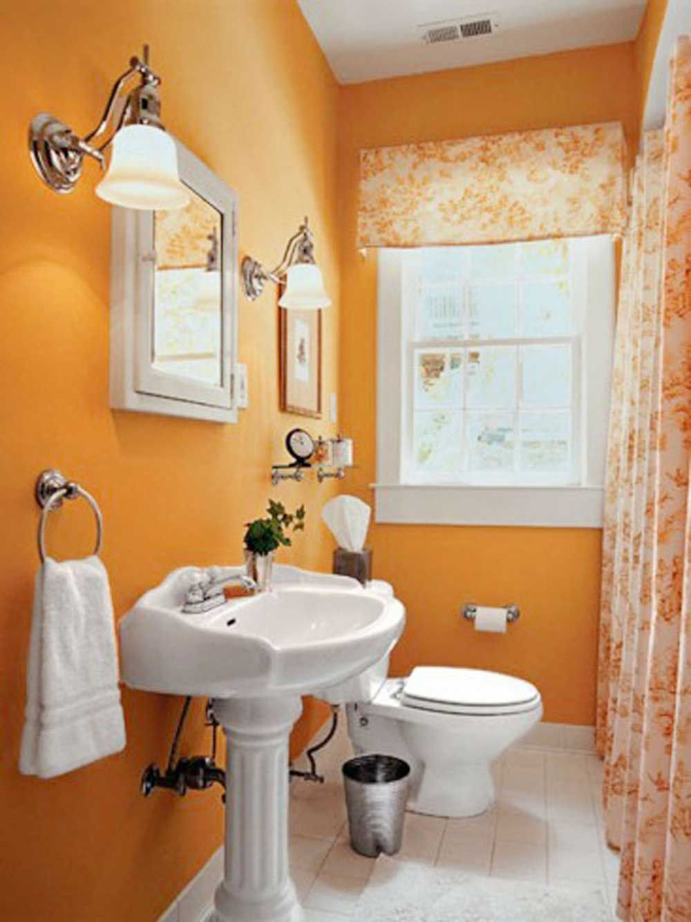 orange bathroom paint ideas with creative paint colors for small