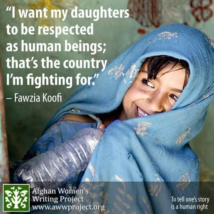 Fawzi Koofi on the importance of gender equality for her daughters.