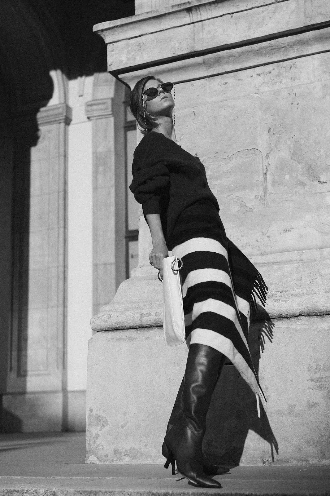 Sirma Markova: The blanket wrap skirt | H&M STUDIO AW 19