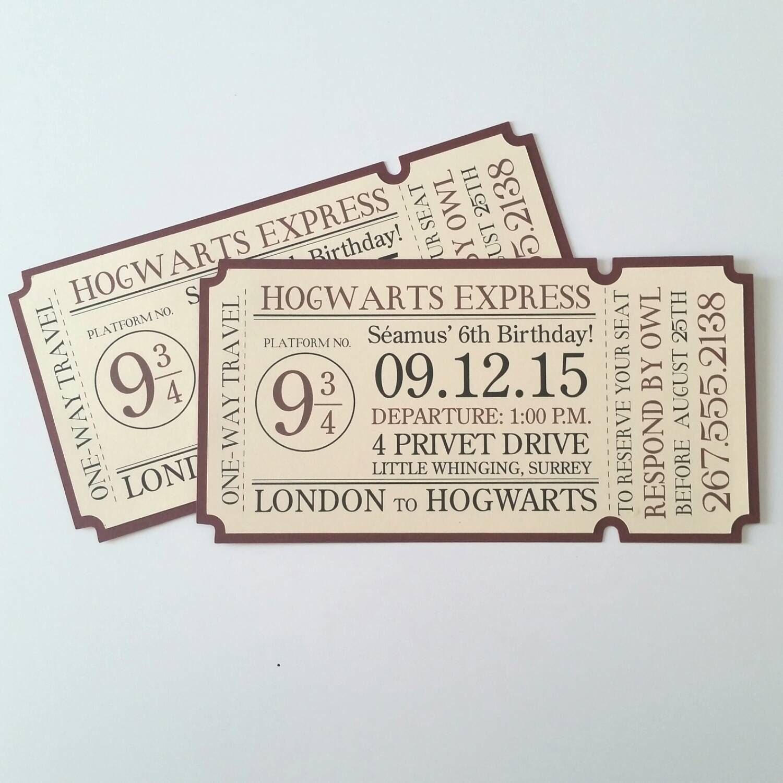 4x8 Hogwarts Express Train Ticket Invitation Etsy Harry Potter Wedding Theme Harry Potter Invitations Harry Potter Wedding