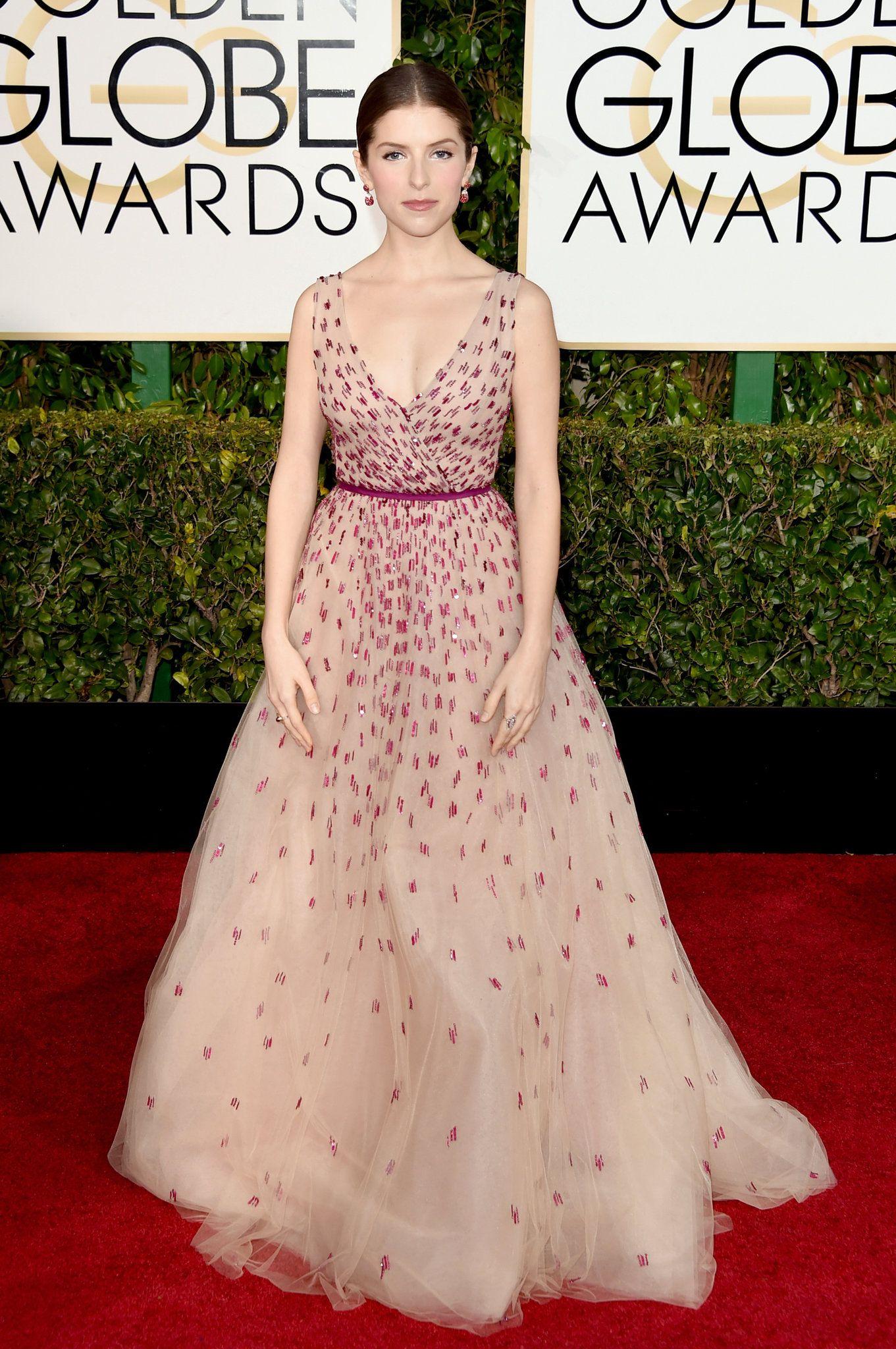 Golden Globes 2015 Anna Kendrick Celebrity Dresses Golden Globes Red Carpet Red Carpet Dresses