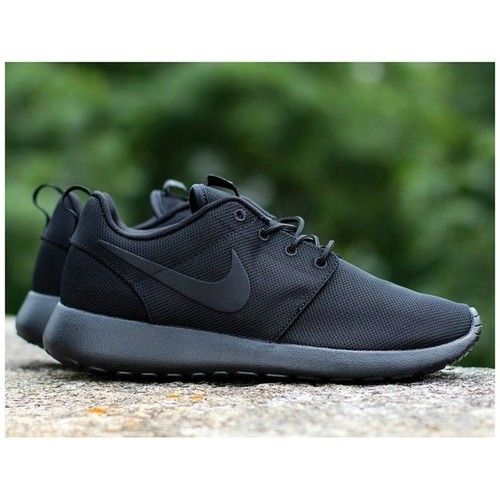 nike roshe run triple black 39 s