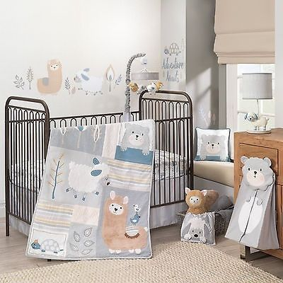 Lambs Ivy Happi by Dena Little Llama 5 PC Baby Nursery Crib Bedding Set w Bumper