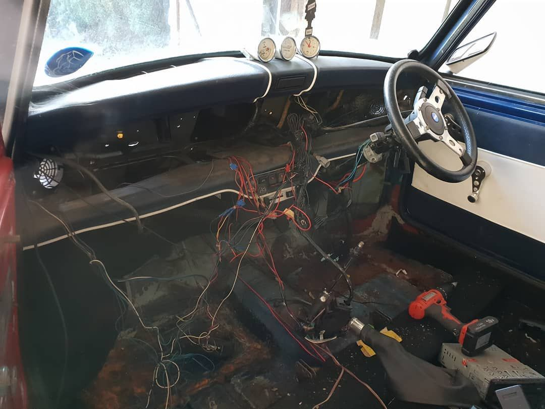 small resolution of a little bit done before work dash out and the rats nest or wires unravels custom wiring harness may