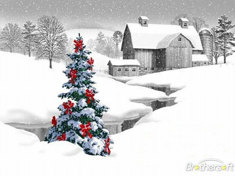 White Christmas Theme Desktop Touch of Color Desktop