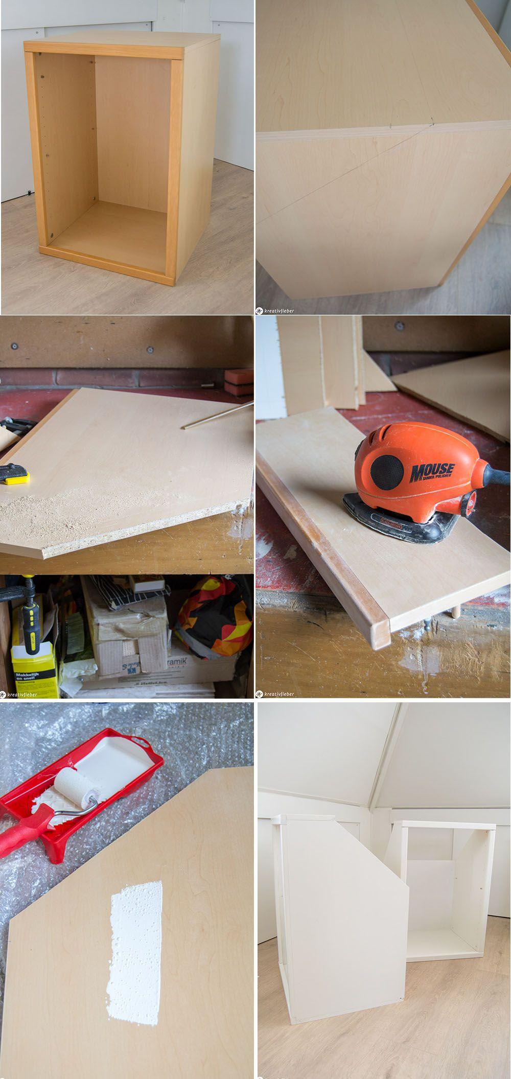Diy Ganz Einfach Schranke Fur Dachschragen Bauen Schrank Dachschrage Schrank Selber Bauen Dachschrage