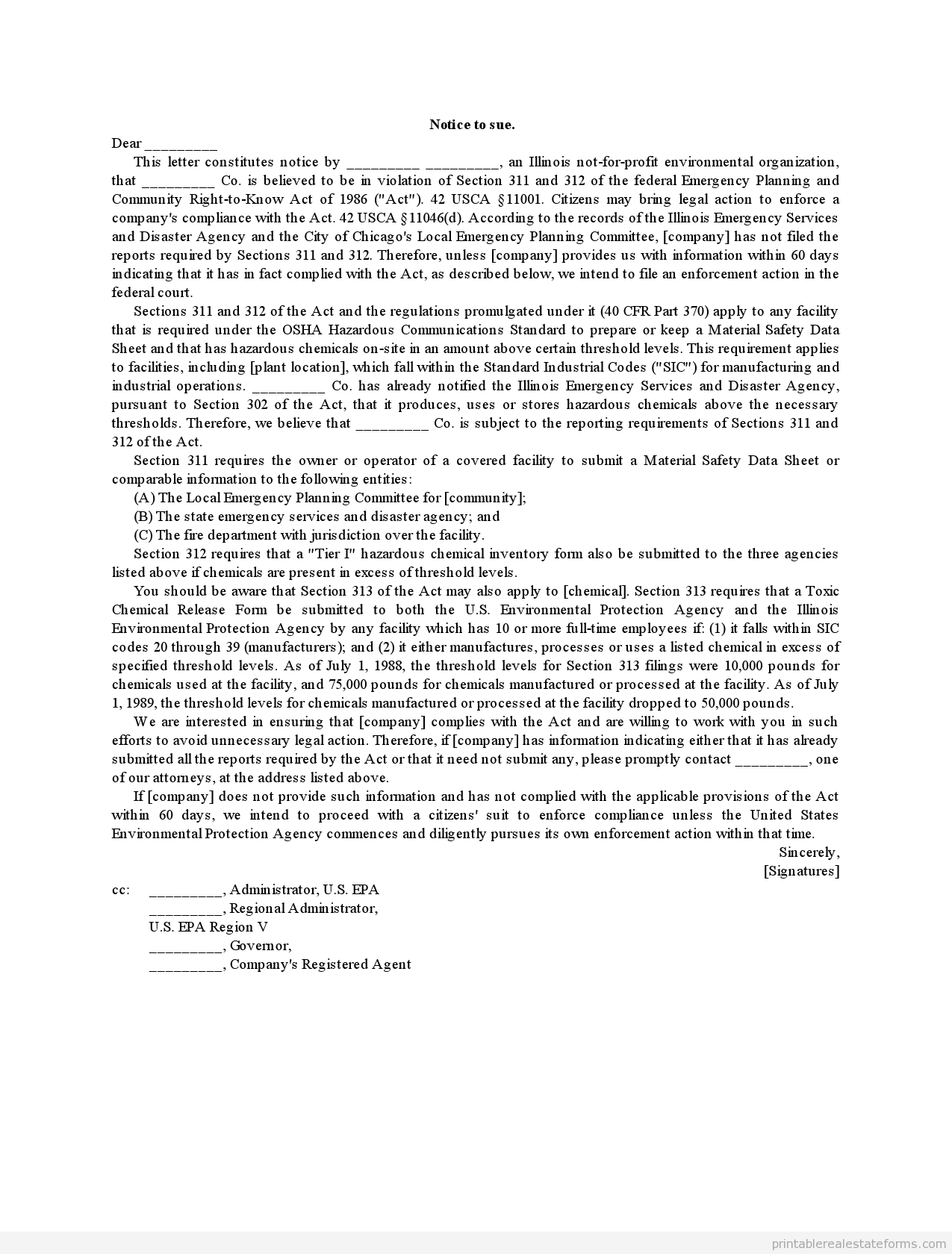 notice to sue 2 | Property Land Agreement | Pinterest | Real estate ...