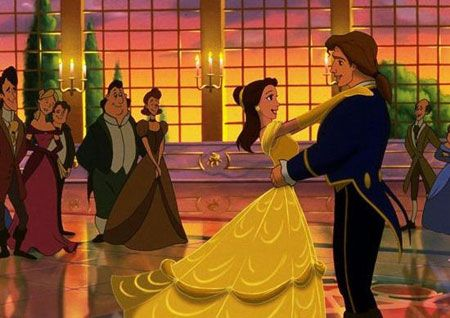 Belle and the prince from Walt Disney's Beauty and the Beast